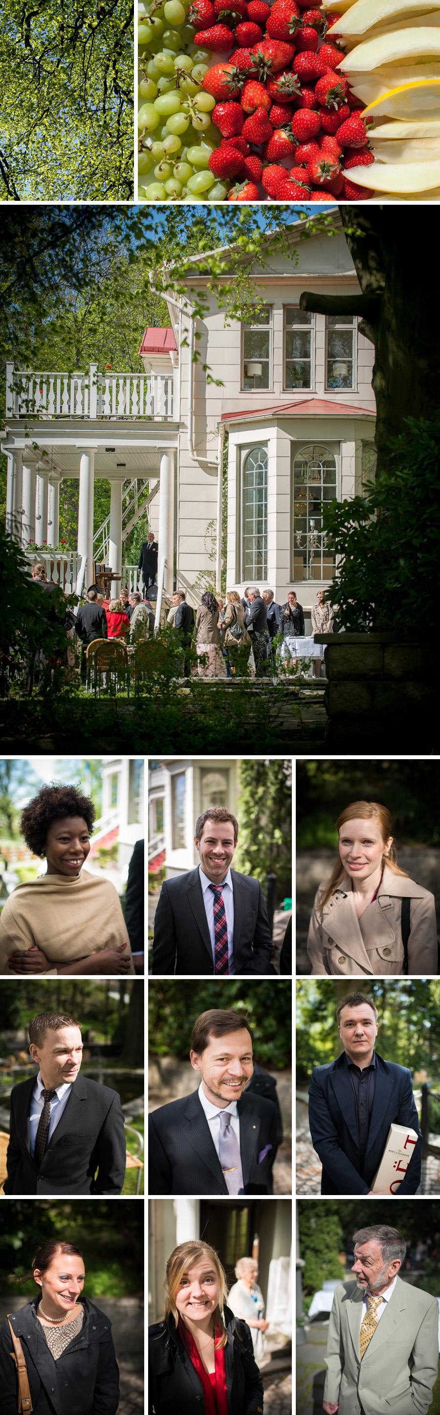 Villa Odinslund Bröllopsbilder mingel
