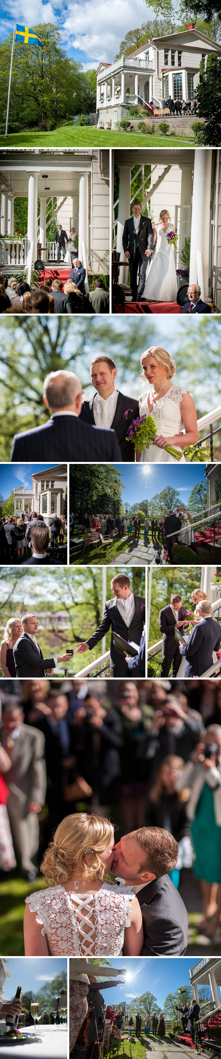 Bröllopsfotograf Göteborg - Villa Odinslund Bröllopsbilder Vigsel