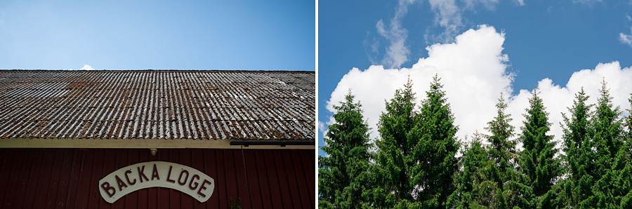 bröllopsfotograf Göteborg - miljö - hus och träd Backa Loge