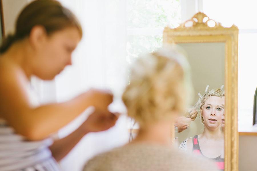 bröllopsfotografering Göteborg brudens hår