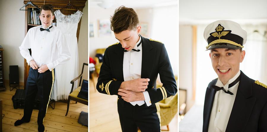 bröllopsfotografering Göteborg - brudgummens påklädning