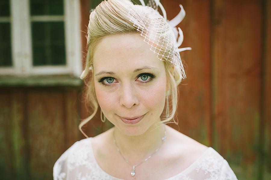 bröllopsfotograf Backa Loge porträtt på bruden