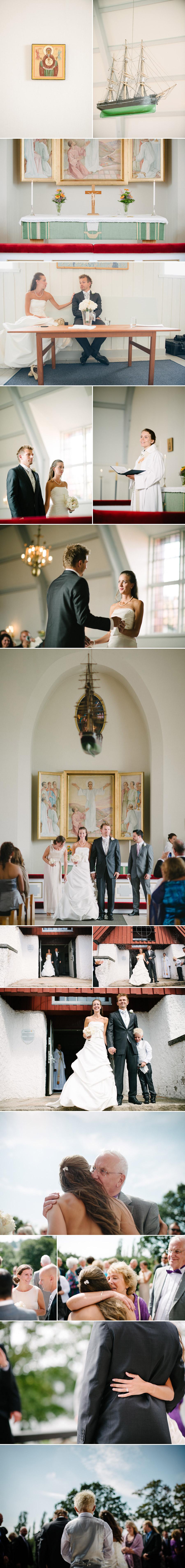 Bröllopsfotograf Göteborg Anna & Martin: Vigseln i Älvsborgs Kyrka