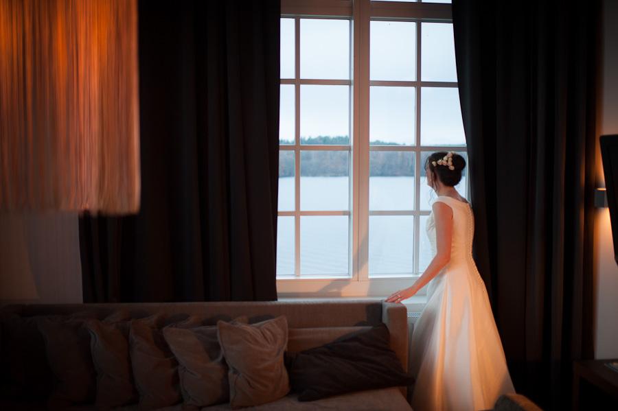 Nääs Fabriker fotograf David Berg - brud och utsikt över sjön