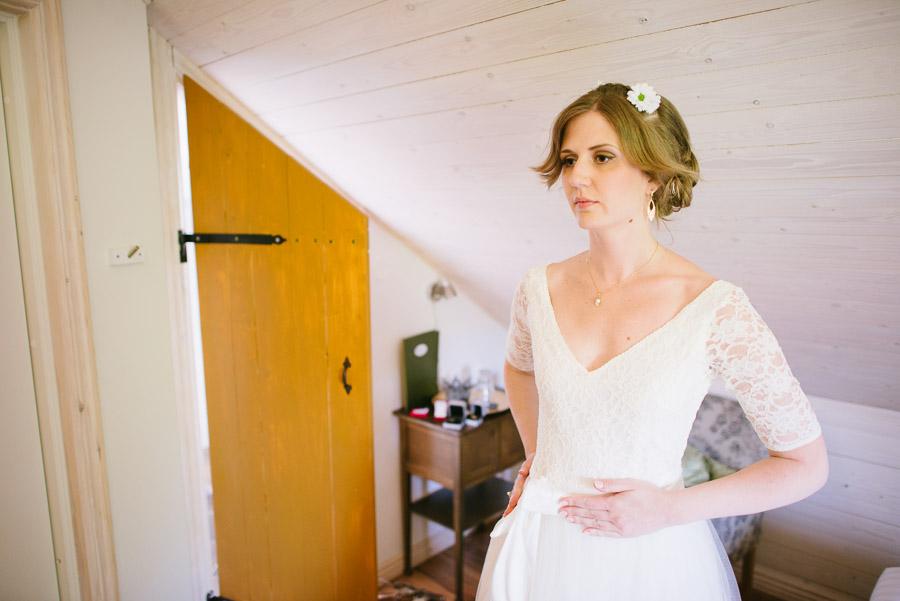 Bröllop Kvarnen i Hyssna - Förberedelser brud