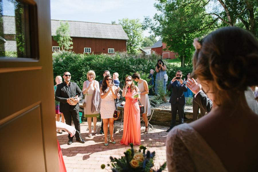 Bröllop Kvarnen i Hyssna - Mottagning brud