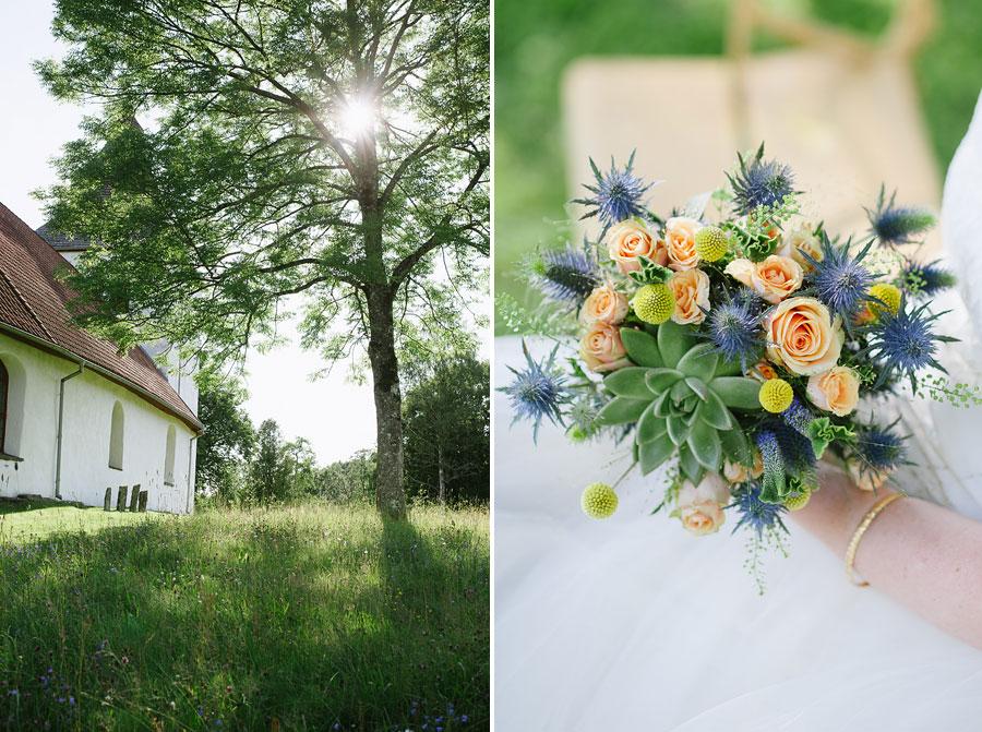 Bröllop Hyssna Gamla Kyrka - porträtt bröllopsfotograf