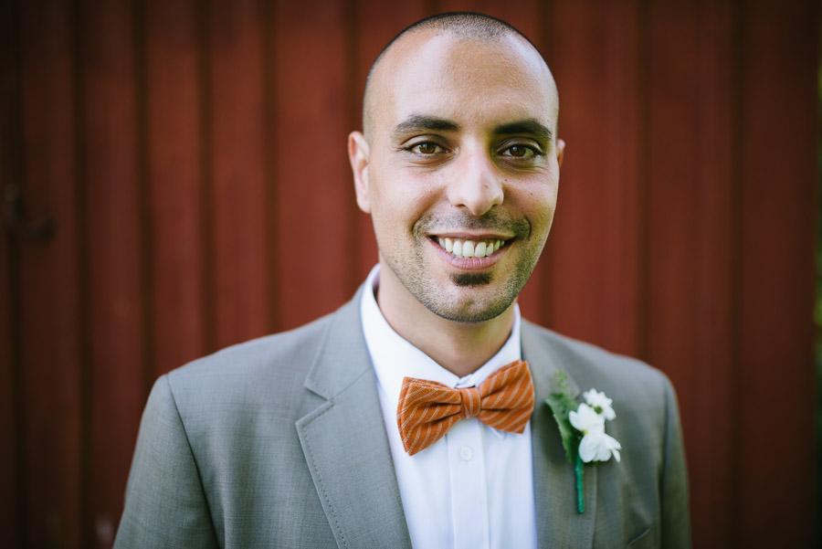 Bröllop porträtt headshot brudgumm