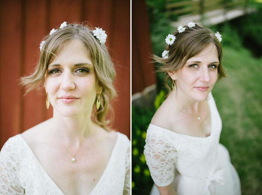 Bröllop porträtt headshot brud