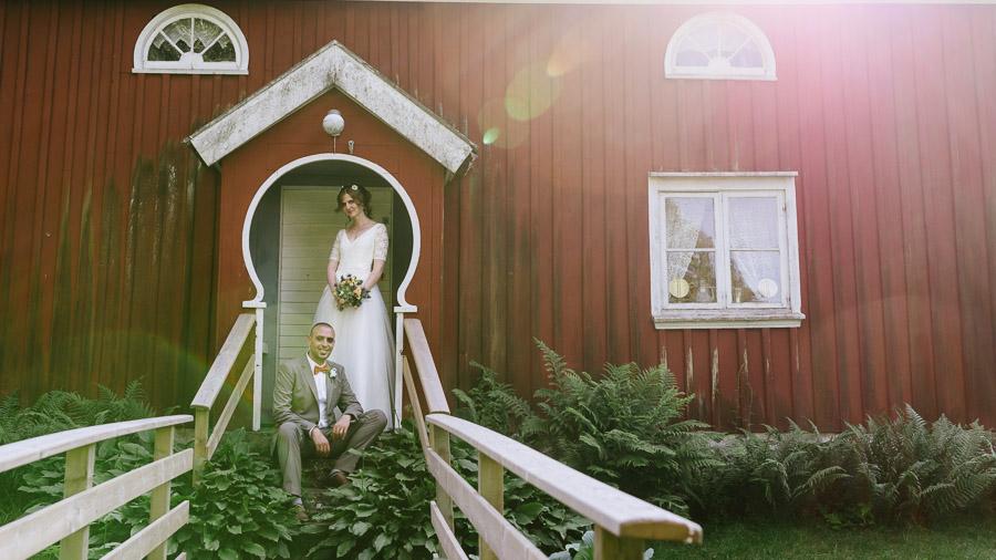 Bröllopsfoto porträtt motljus alternativt