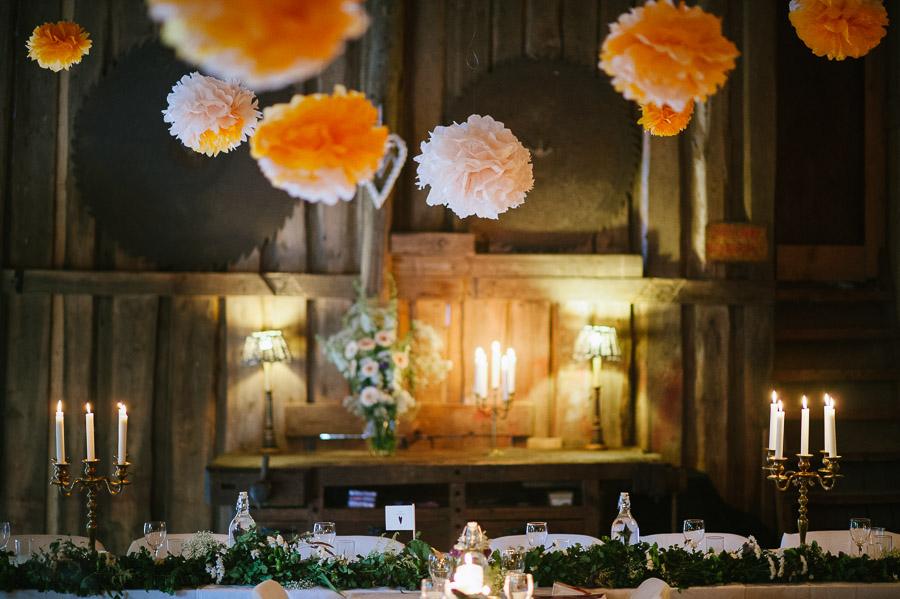 Bröllopsfoto Kvarnen i Hyssna - Dukning  och dekorationer