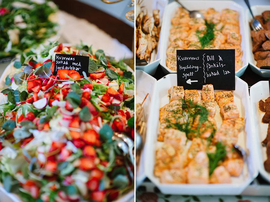 Bröllopsfoto Kvarnen i Hyssna - Dukning, dekorationer och mat