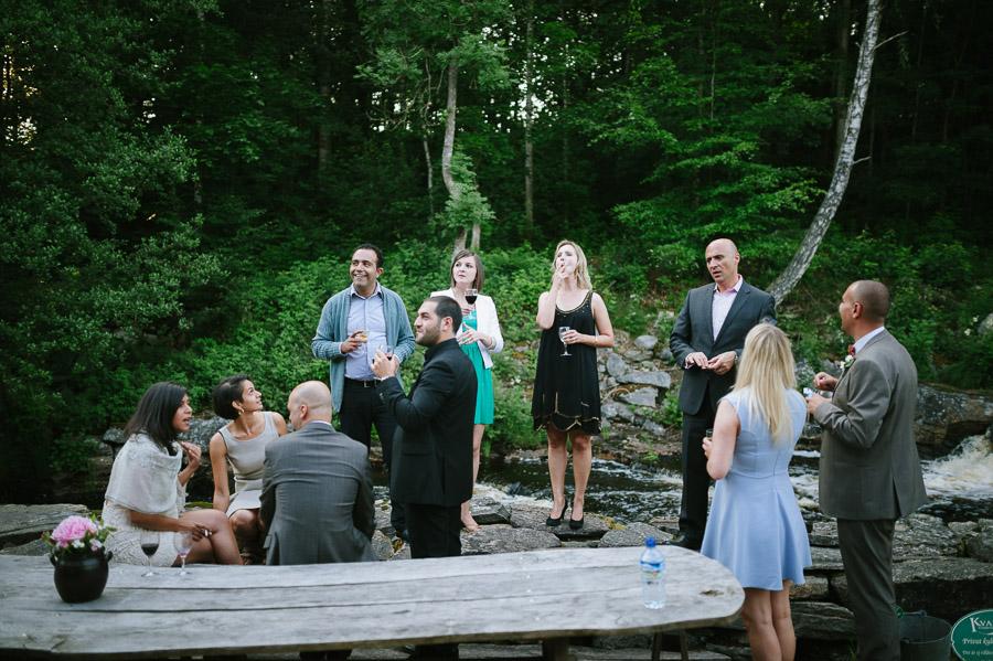 Bröllopsfoto Kvarnen i Hyssna - Mingel