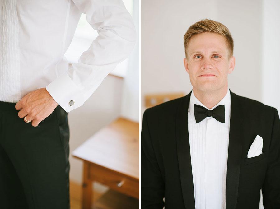 Bröllop Backa Loge - förberedelser brudgum