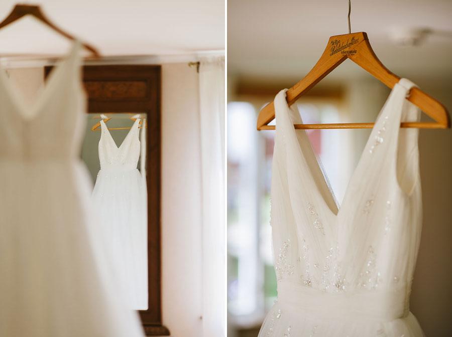 Bröllop Backa Loge - förberedelser brudklänning