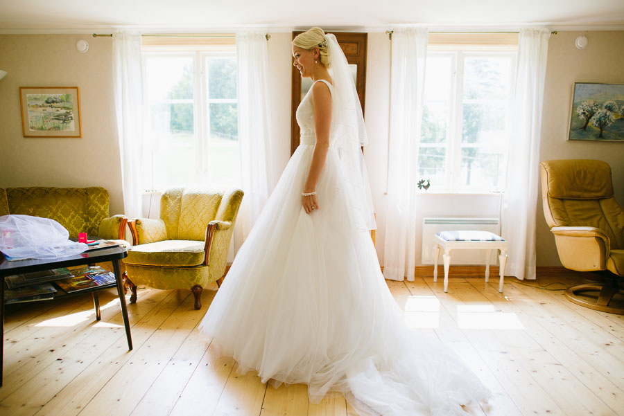 Bröllop Backa Loge - förberedelser brud