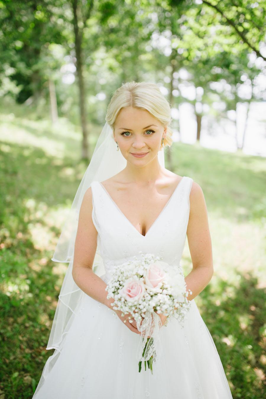 Bröllopsfotograf Backa Loge - bröllopsporträtt brud