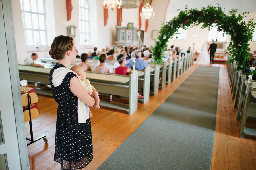 Bröllopsfoto Kalv - vigsel gudstjänst