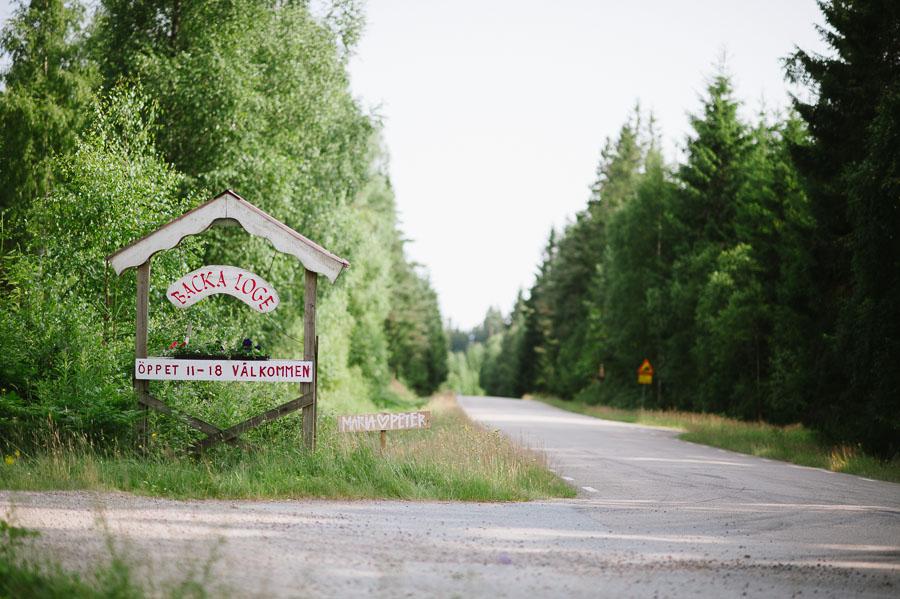 Bröllopsfotograf Backa Loge - miljöbild skylt