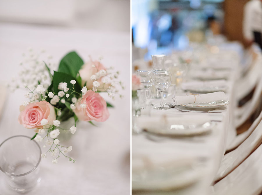 Bröllopsfotograf Backa Loge - miljöbild dukning dekorationer
