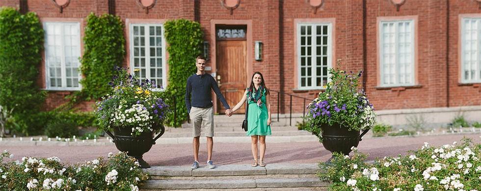 Bröllop i Botaniska Trädgården i Göteborg