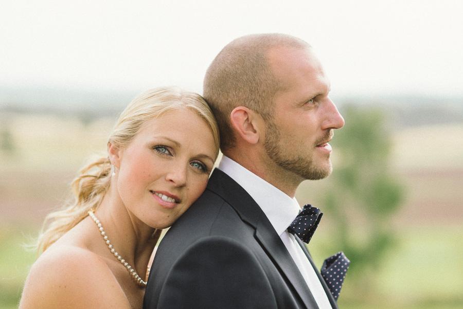 Bröllop i Gråbo. Brudparet, porträtt