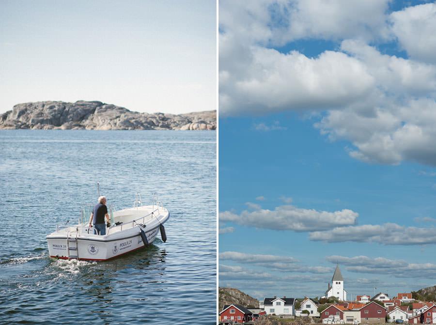 Fotograf Västkusten - Bröllop i Skärhamn. Miljöbild, Skärhamns Kyrka
