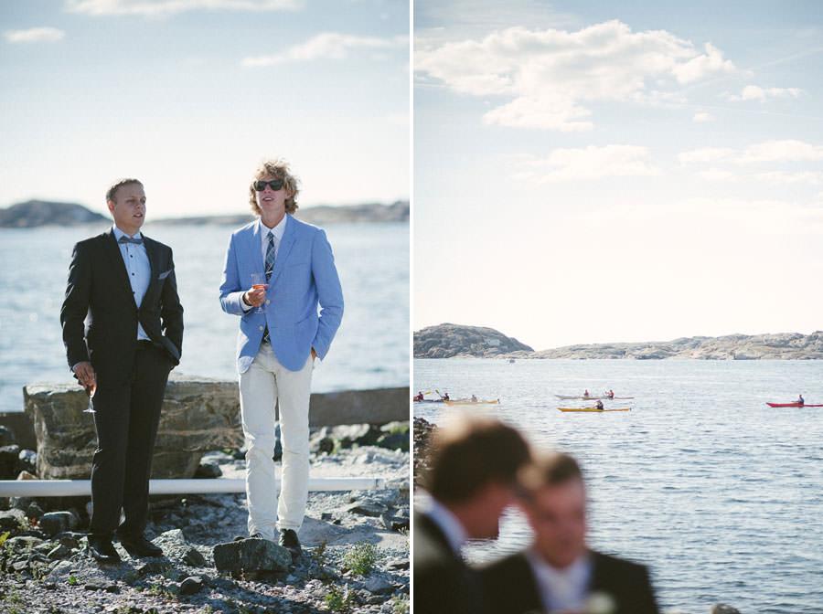 Bröllopsfoto Västkusten - Mingelbilder. Kajakpaddling