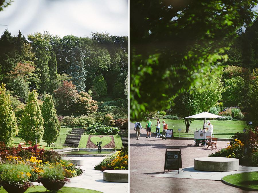 Bröllopsfoto i Botaniska Trädgården Göteborg - miljöbilder