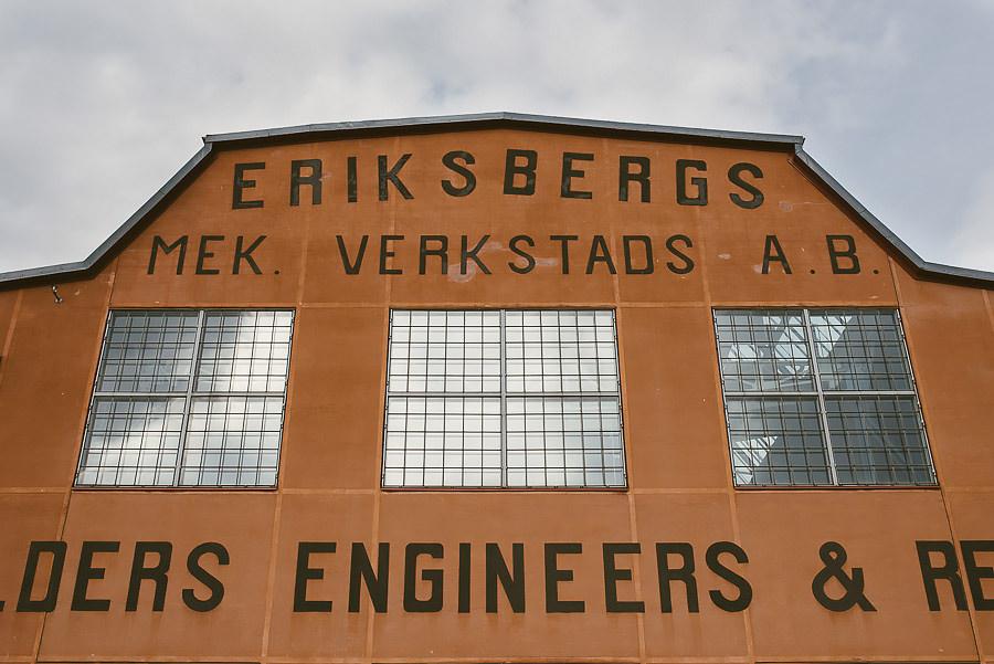 Bröllop Eriksberg Göteborg - Miljöbild industribygnad