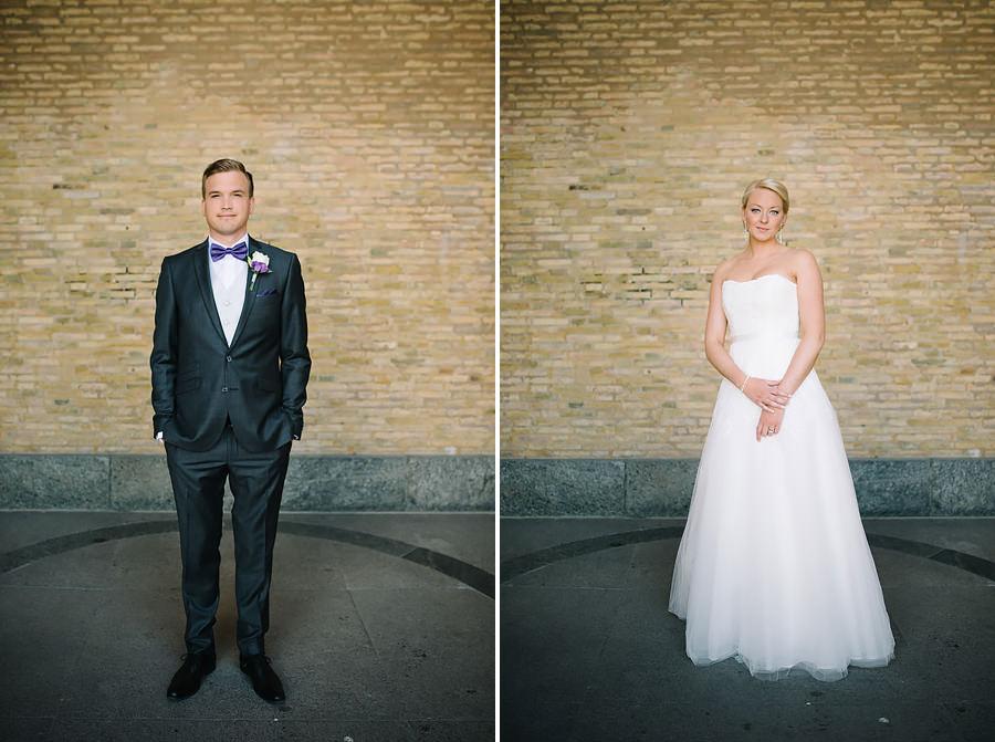Bröllopsporträtt vid konstmuseet i Göteborg