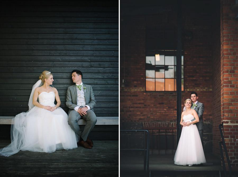 Bröllop vid Sjölyckan Nääs - porträtt på brudparet