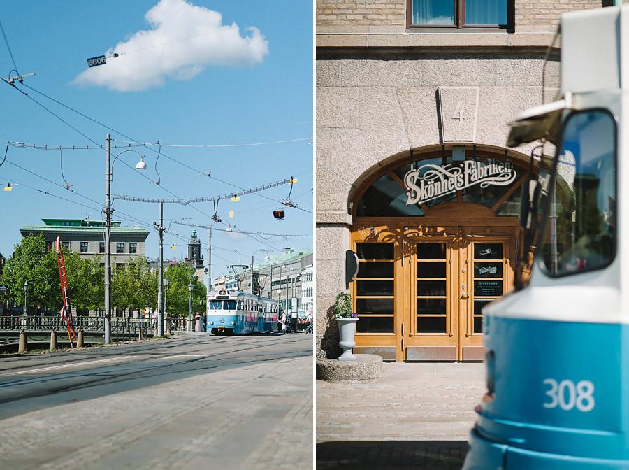Bröllop i Göteborg - Miljöbild Spårvagn vid Skönhetsfabriken Clarion Hotel Post