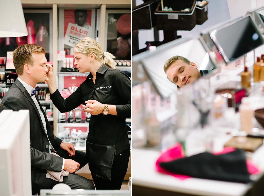 Bröllop i Göteborg - Brudgum på The Body Shop - porträtt