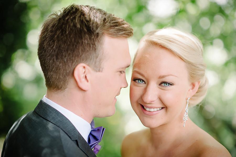 Bröllop i Trädgårdsföreningen Göteborg - bröllopsporträtt närbild brud