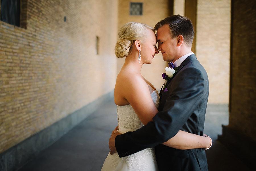 Fotograf vid Götaplatsen i Göteborg - bröllopsporträtt närbild