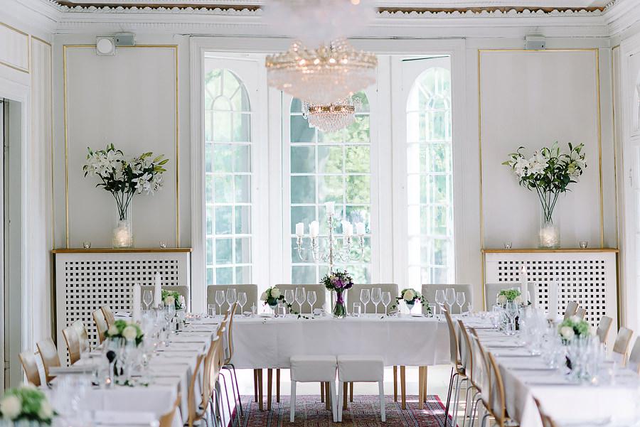 Bröllop på Villa Odinslund - interiör - dukning och detaljer