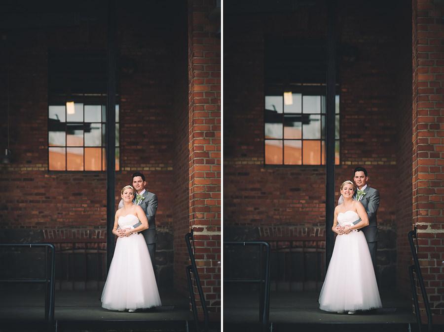 Bröllopsfotograf Nääs Fabriker och Tollered Sjölyckan - bröllopsporträtt vid lastkaj