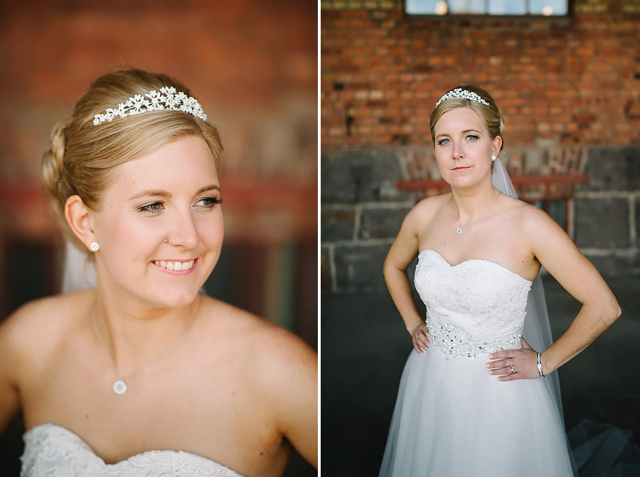 Bröllopsfotograf Nääs Fabriker och Tollered Sjölyckan - bröllopsporträtt brud