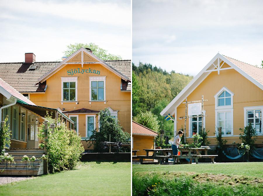 miljöbild på bröllop vid Sjölyckan, Tollered. Förberedelser