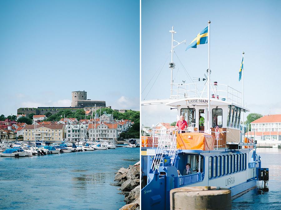 Bröllop på Marstrand - Miljöbilder med färjan och fästningen