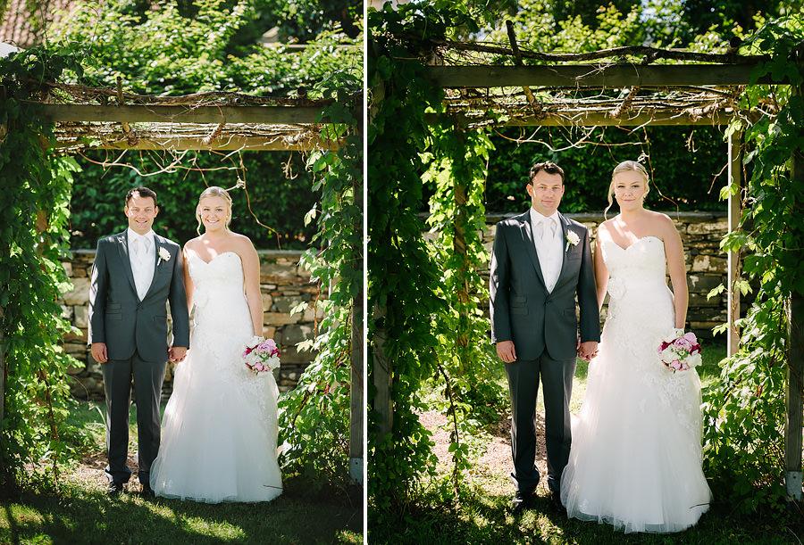 Bröllopsporträtt i hitorisk miljö på Marstrand