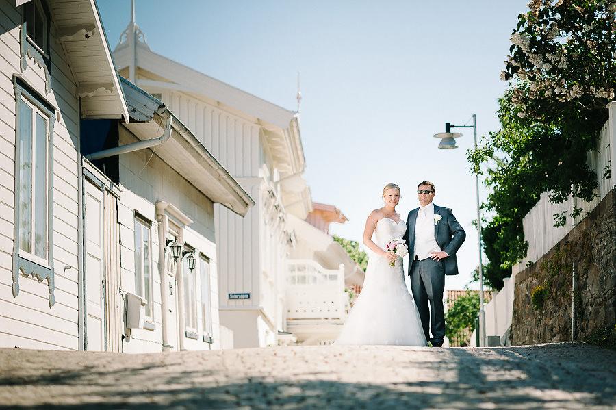 Pittoreskt bröllop på Marstrand - Porträtt
