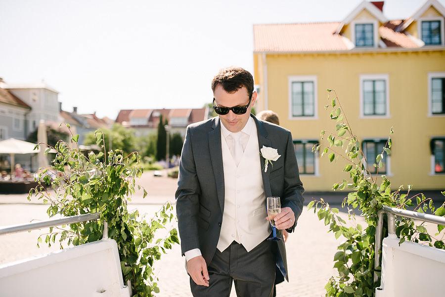Saltstänkt bröllop på Västkusten - går ombord på båt