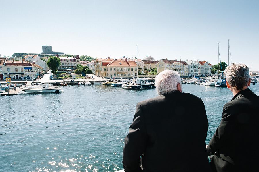 Saltstänkt bröllop på Västkusten - båttur