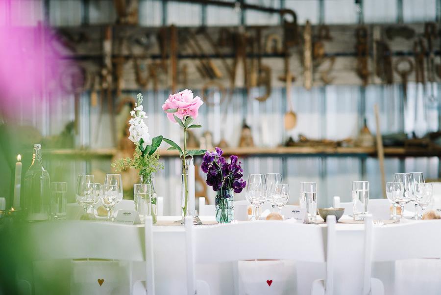 Saltstänkt bröllop på Västkusten - DIY dukning och detaljer