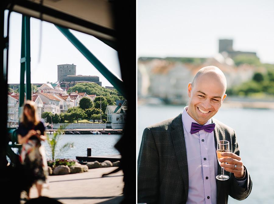 Bröllop på Marstrand - miljöbild utsikt mot fästningen