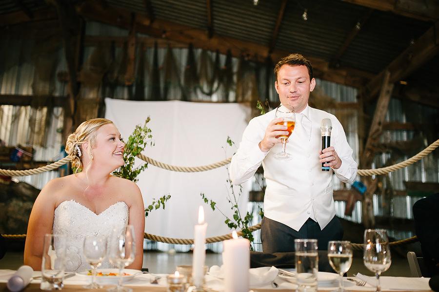 Bröllop på Marstrand - middagen och brudgummens tal