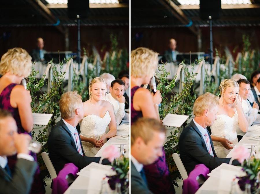Bröllopsfotograf Marstrand - middagen och brudens mors tal