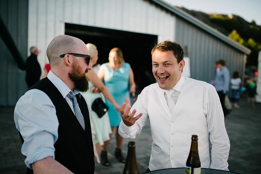 Bröllop på Marstrand - party på bryggan